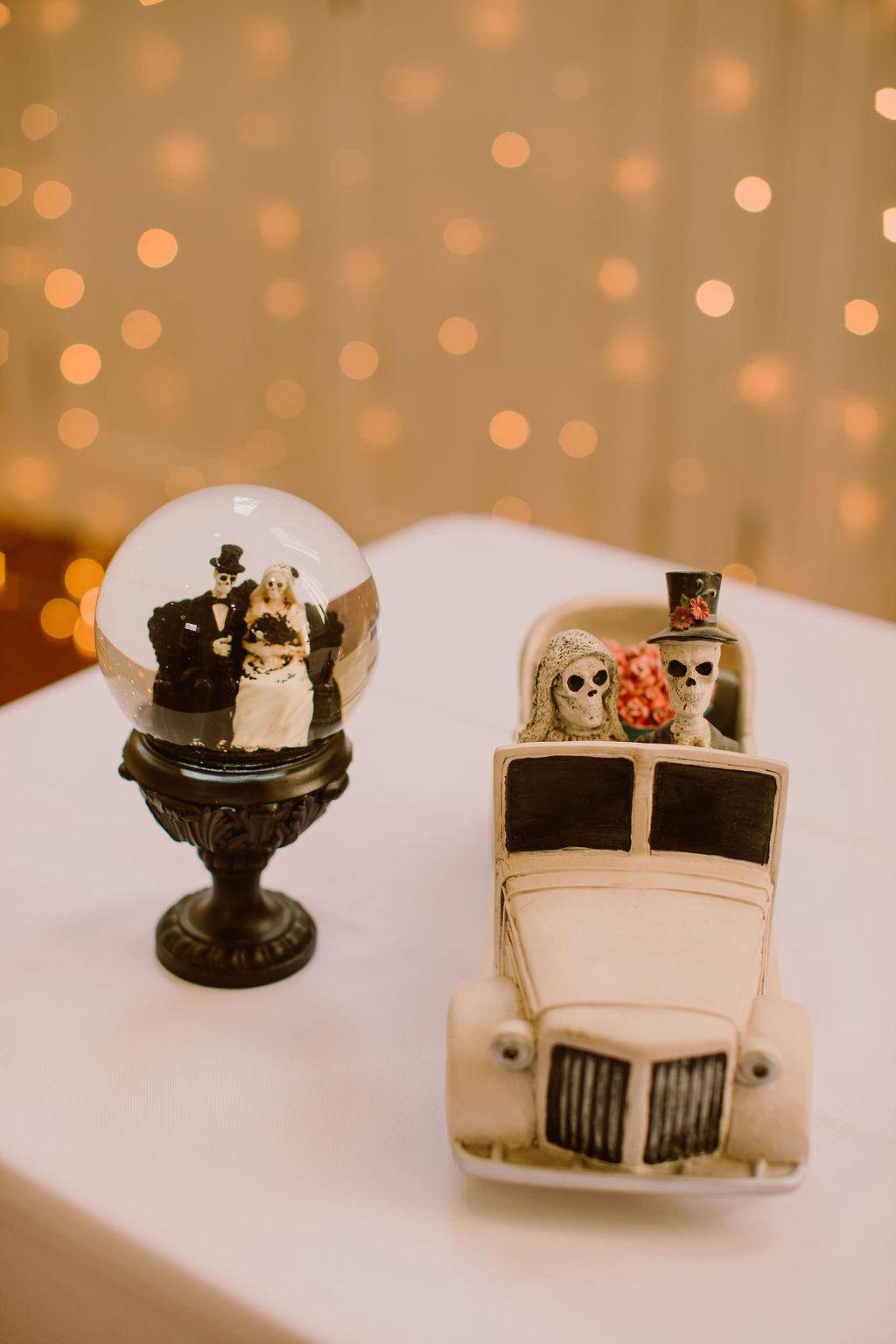 skeleton wedding decor