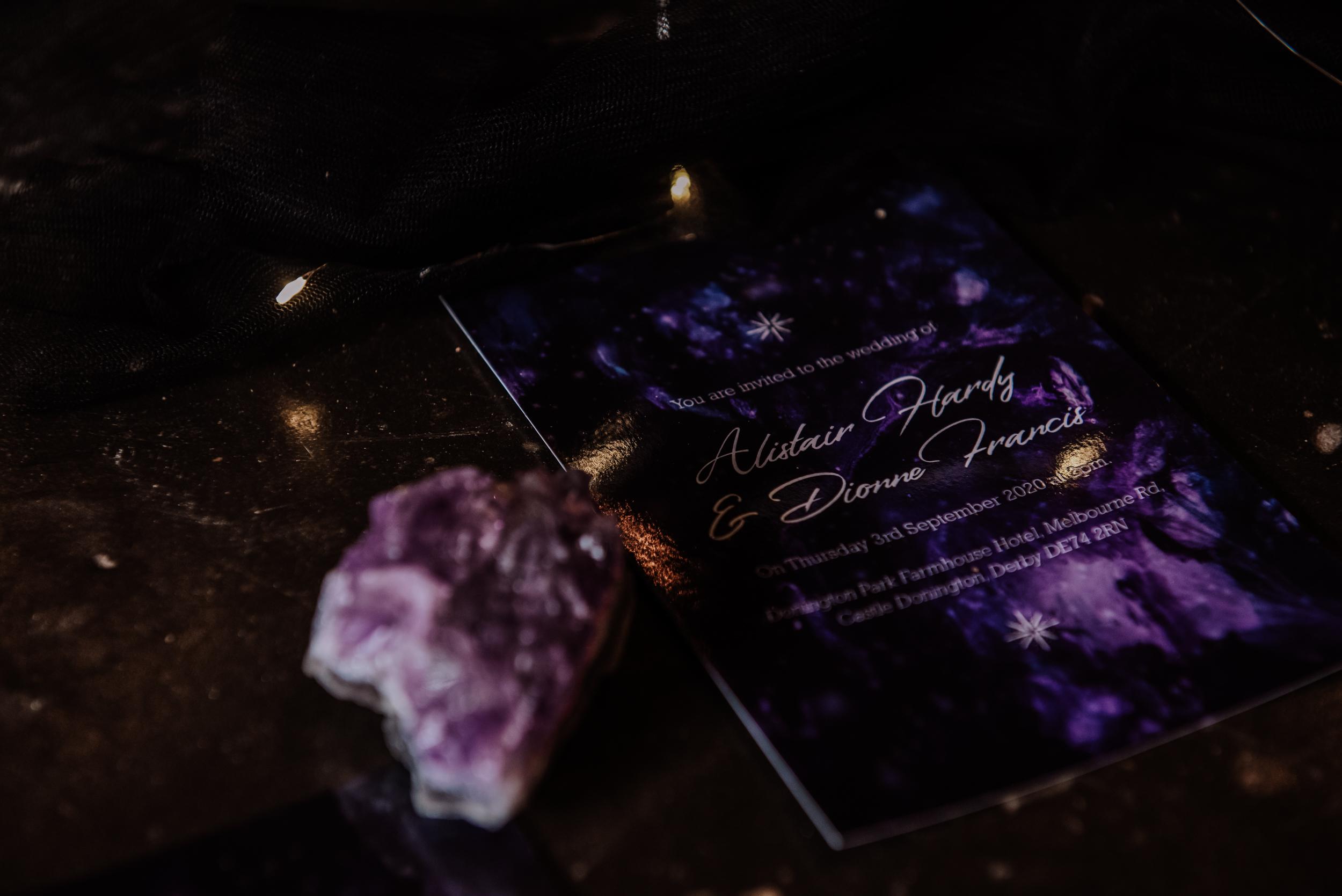 galaxy wedding invitation - galaxy wedding stationery - celestial wedding stationery