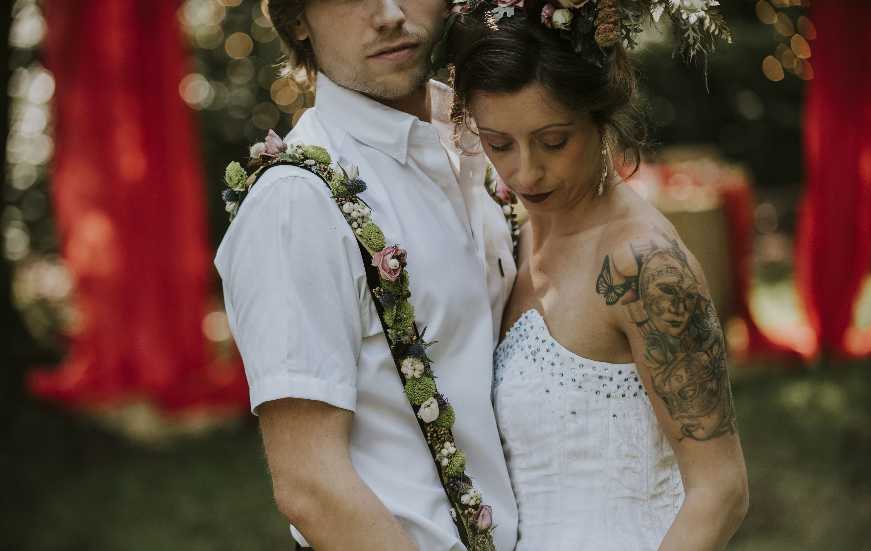 floral suspenders - unique grooms wear - unique suspenders