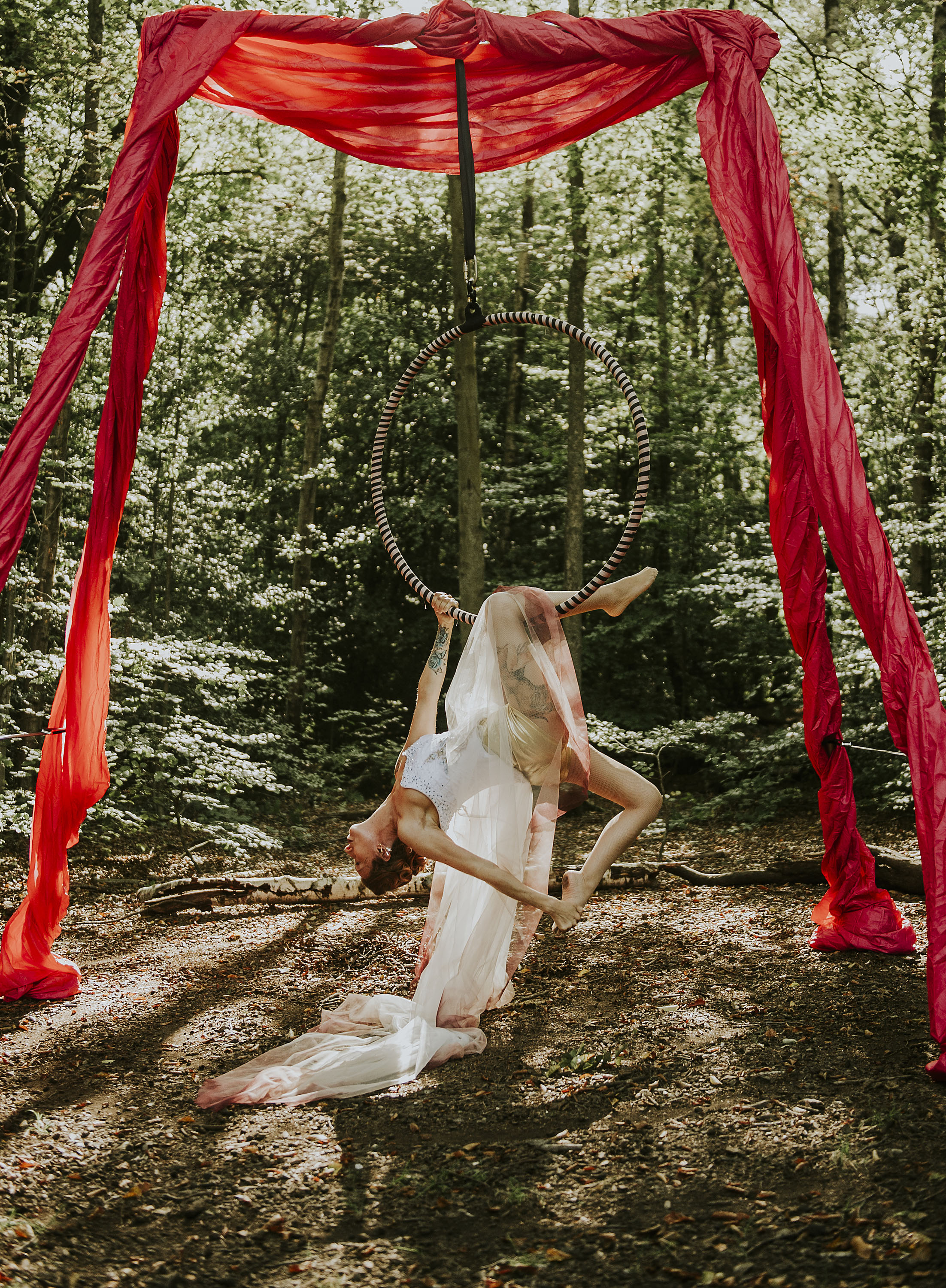 circus wedding - aerial performer bride - unique wedding dress - unique wedding entertainment