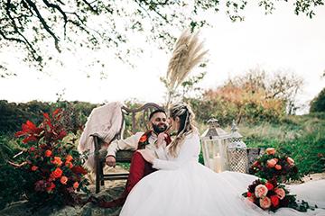 boho luxe wedding - multi cultural wedding - family wedding photoshoot - outdoor wedding