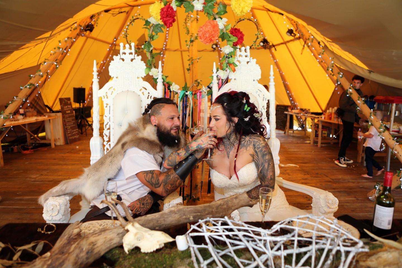 festival viking wedding - alternative wedding inspiration - unconventional wedding - alternative wedding blog - alternative bride and groom