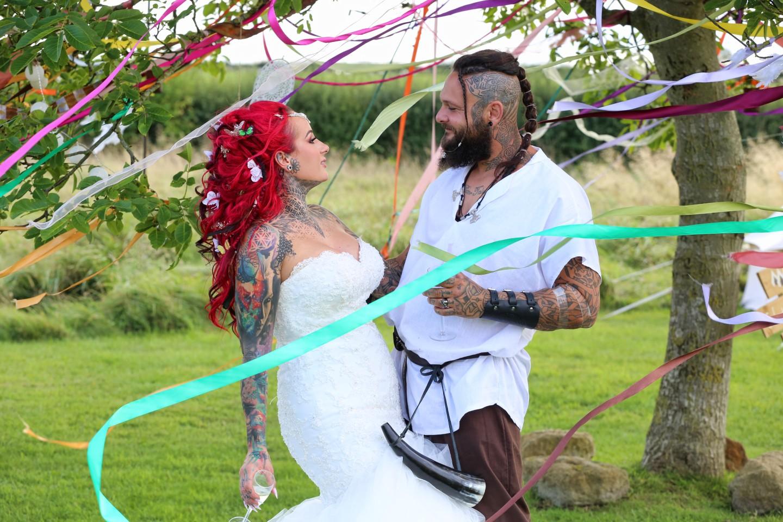 festival viking wedding - alternative wedding inspiration - unconventional wedding - alternative wedding blog - alternative wedding photography