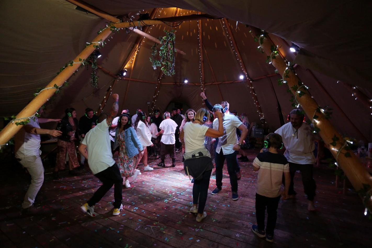 alternative wedding entertainment - festival wedding- wedding silent disco