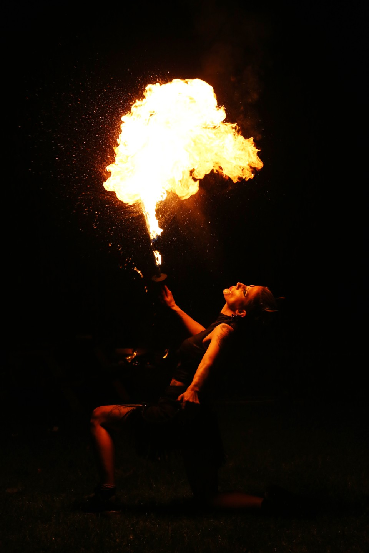 alternative wedding entertainment - festival wedding - fire artist wedding entertainment