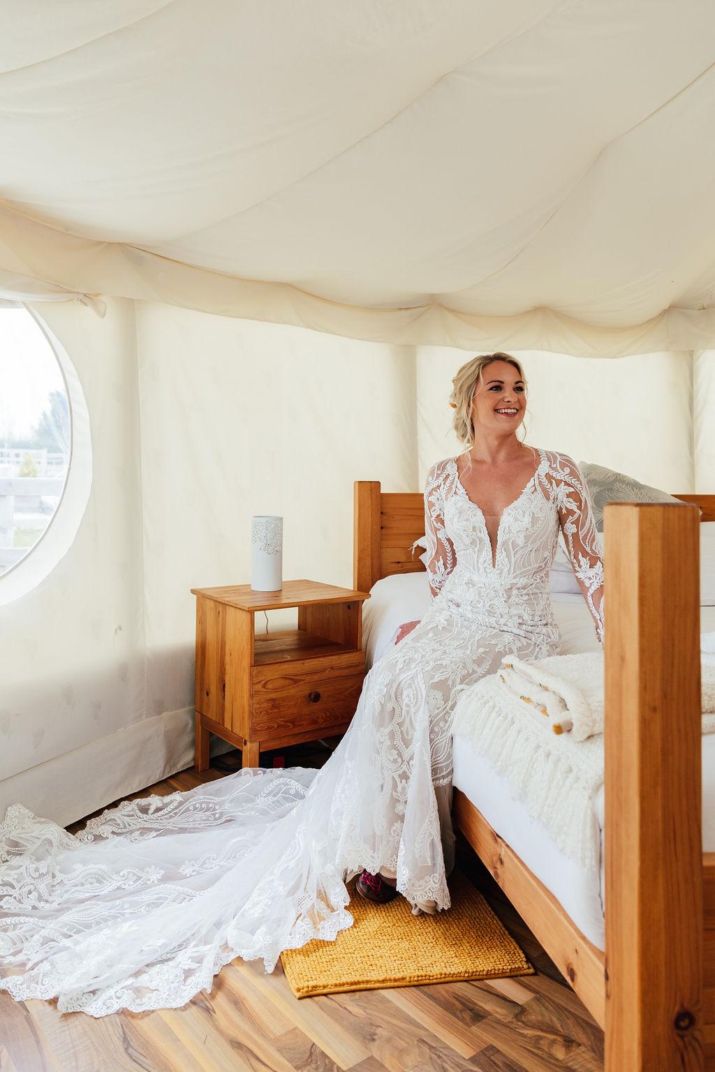 festival wedding accommodation - luxury wedding yurt - unique wedding venue in nottinghamshire