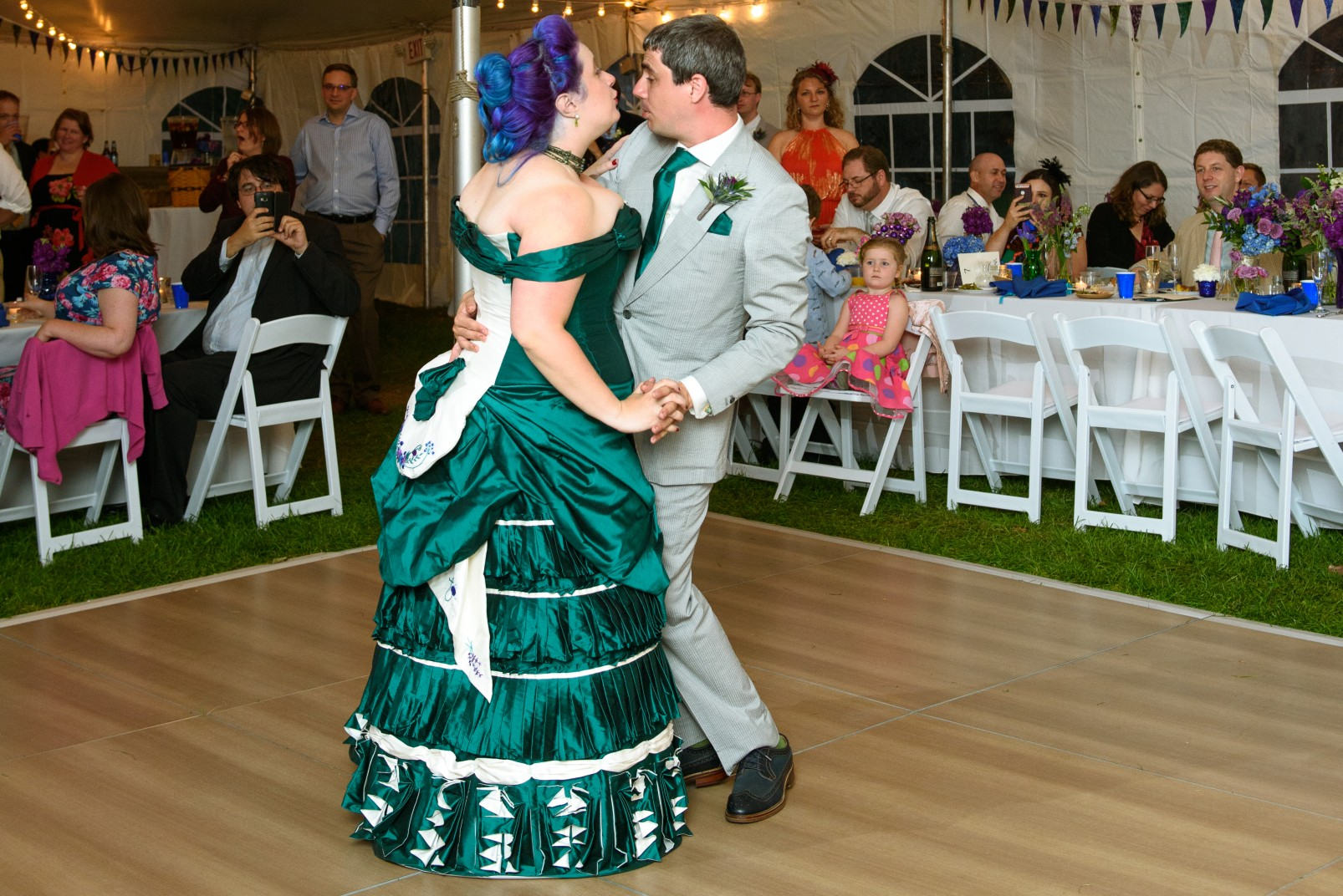 alternative bridal wear - bespoke wedding dress - green wedding dress - victorian wedding dress