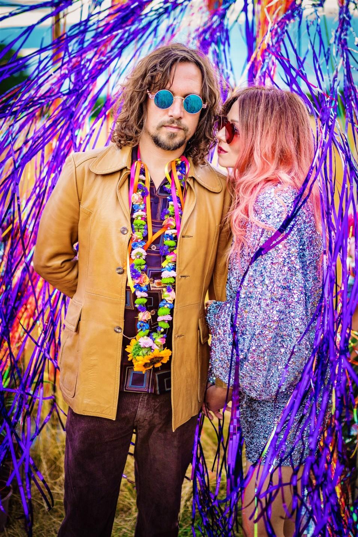 colourful wedding backdrop colourful bohemian wedding - 70s wedding - hippie wedding - fun wedding photobooth