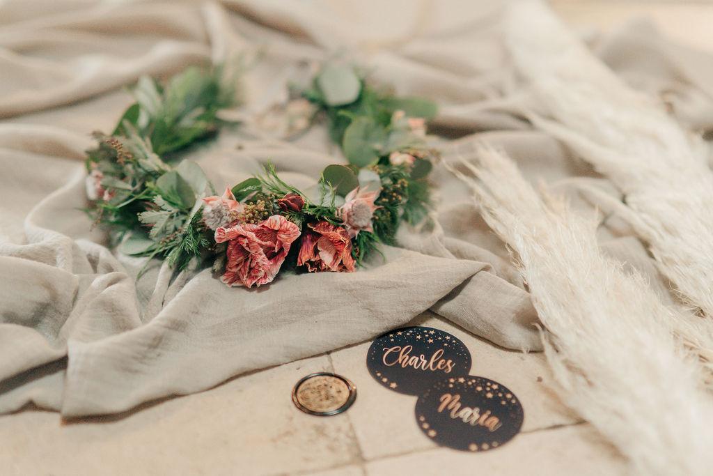 bridal flower crown - bridal flower headband