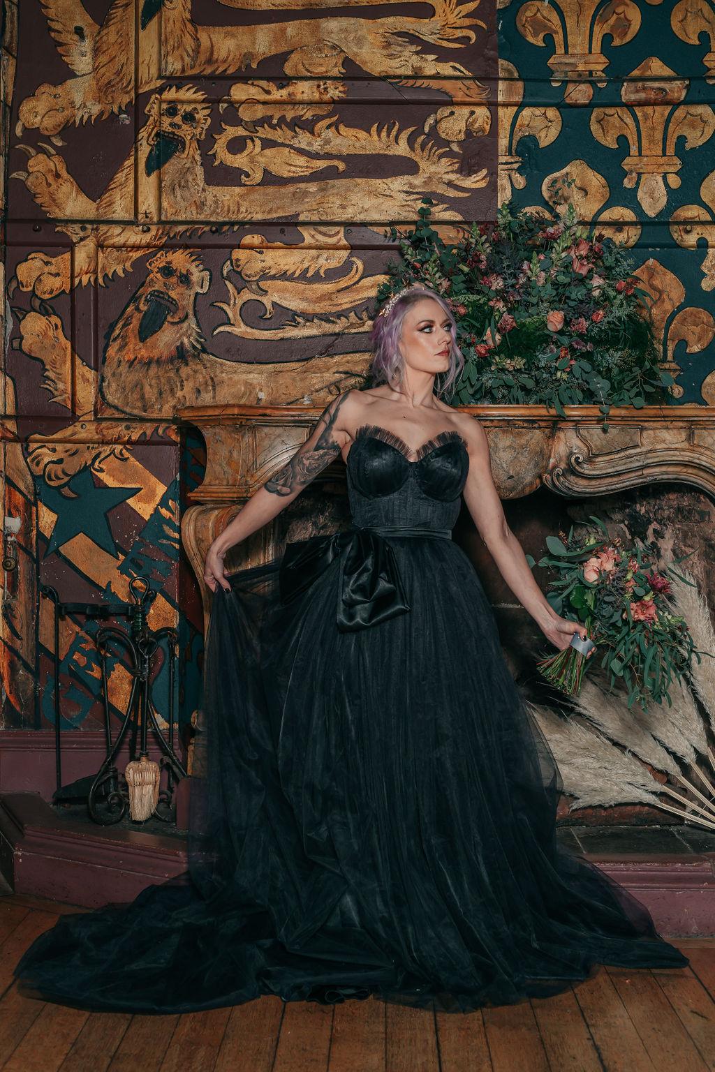 gothic wedding - black wedding dress - alternative wedding dress - alternative bridal wear