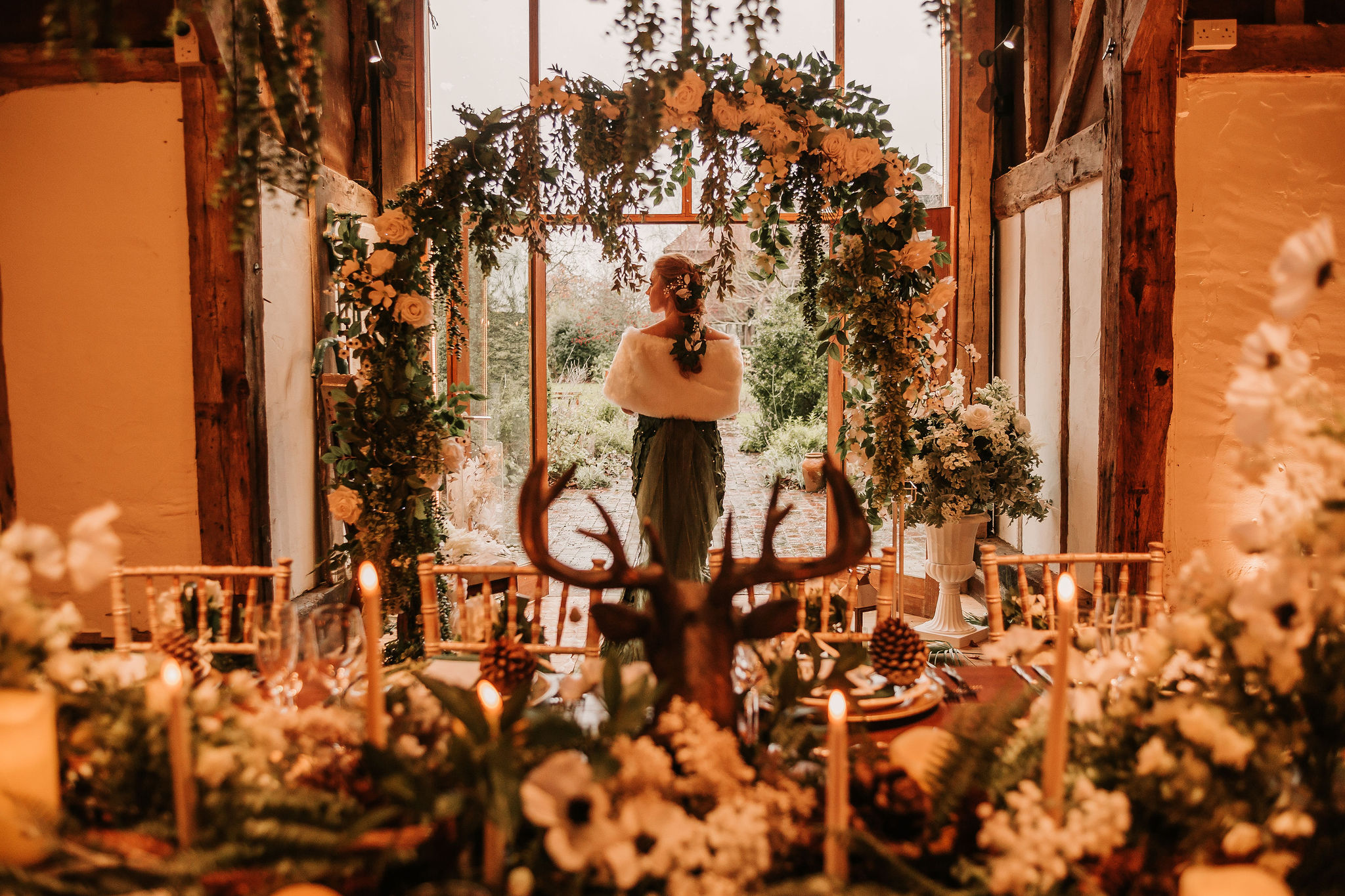 enchanting winter wedding - barn wedding venue - winter wedding styling - unconventional wedding