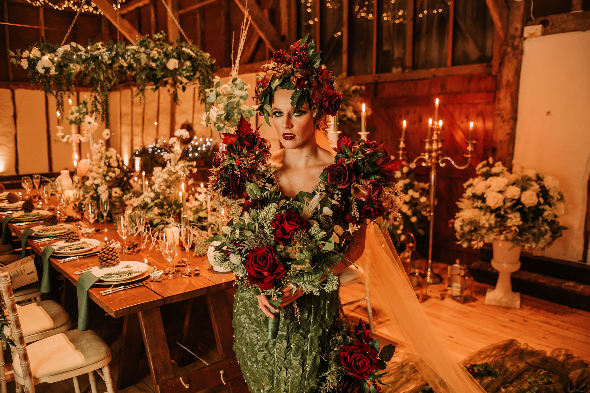 enchanting winter wedding - alternative wedding styling - unique wedding - avant garde bridal inspiration - unconventional wedding