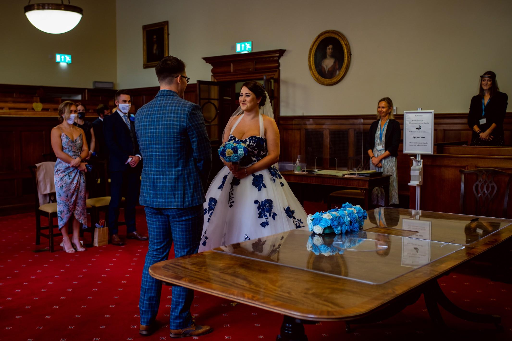 creative covid wedding - covid wedding ceremony - pandemic wedding - small wedding ceremony