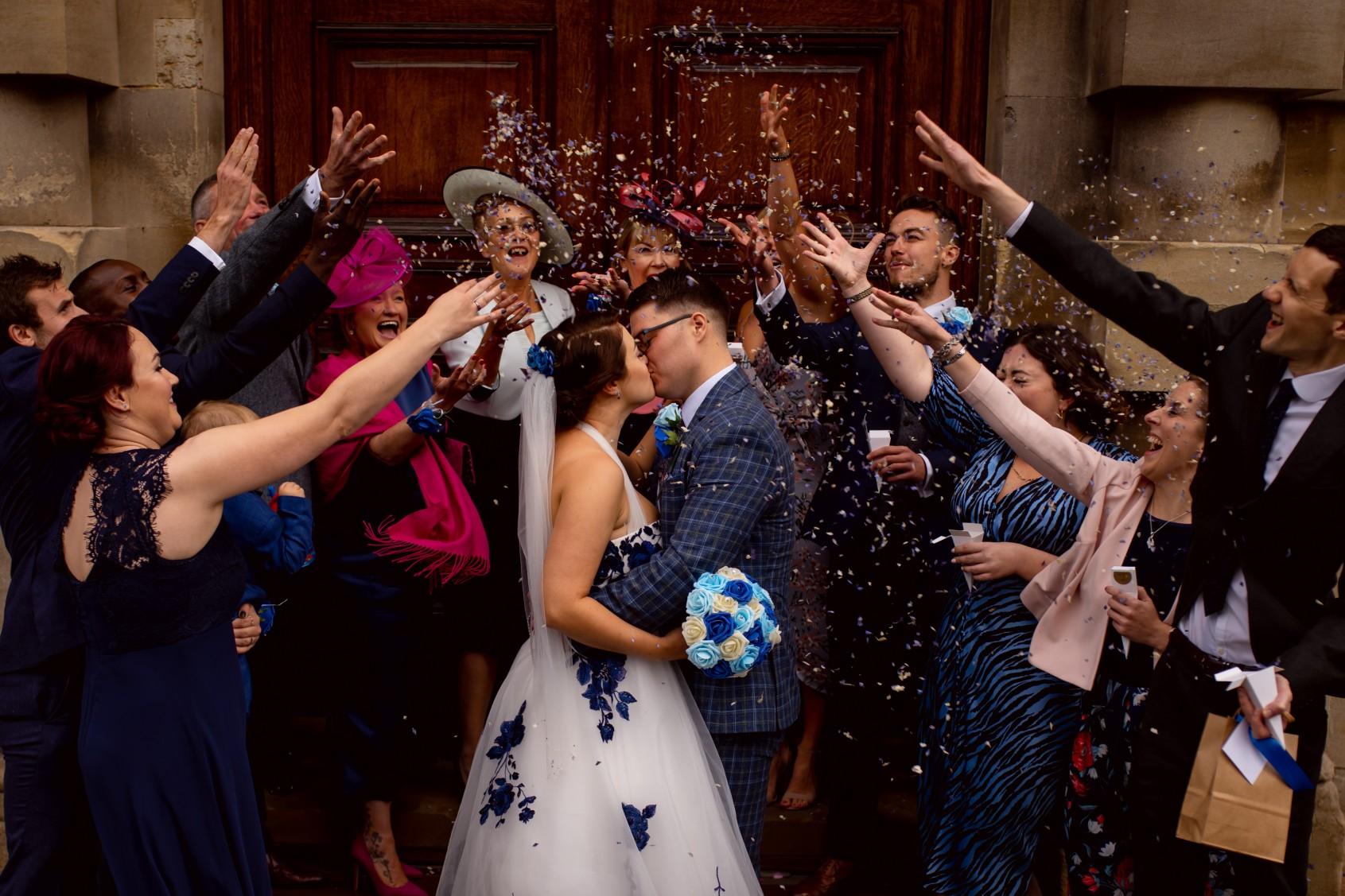 small wedding confetti shot - creative covid wedding