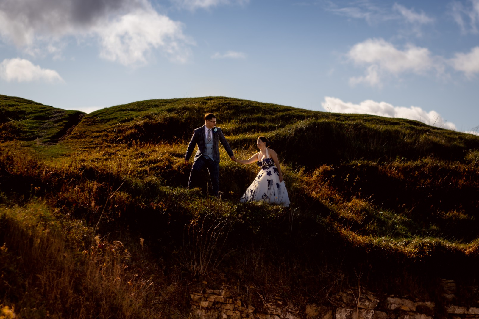 creative wedding photography - creative covid wedding in the cotswolds
