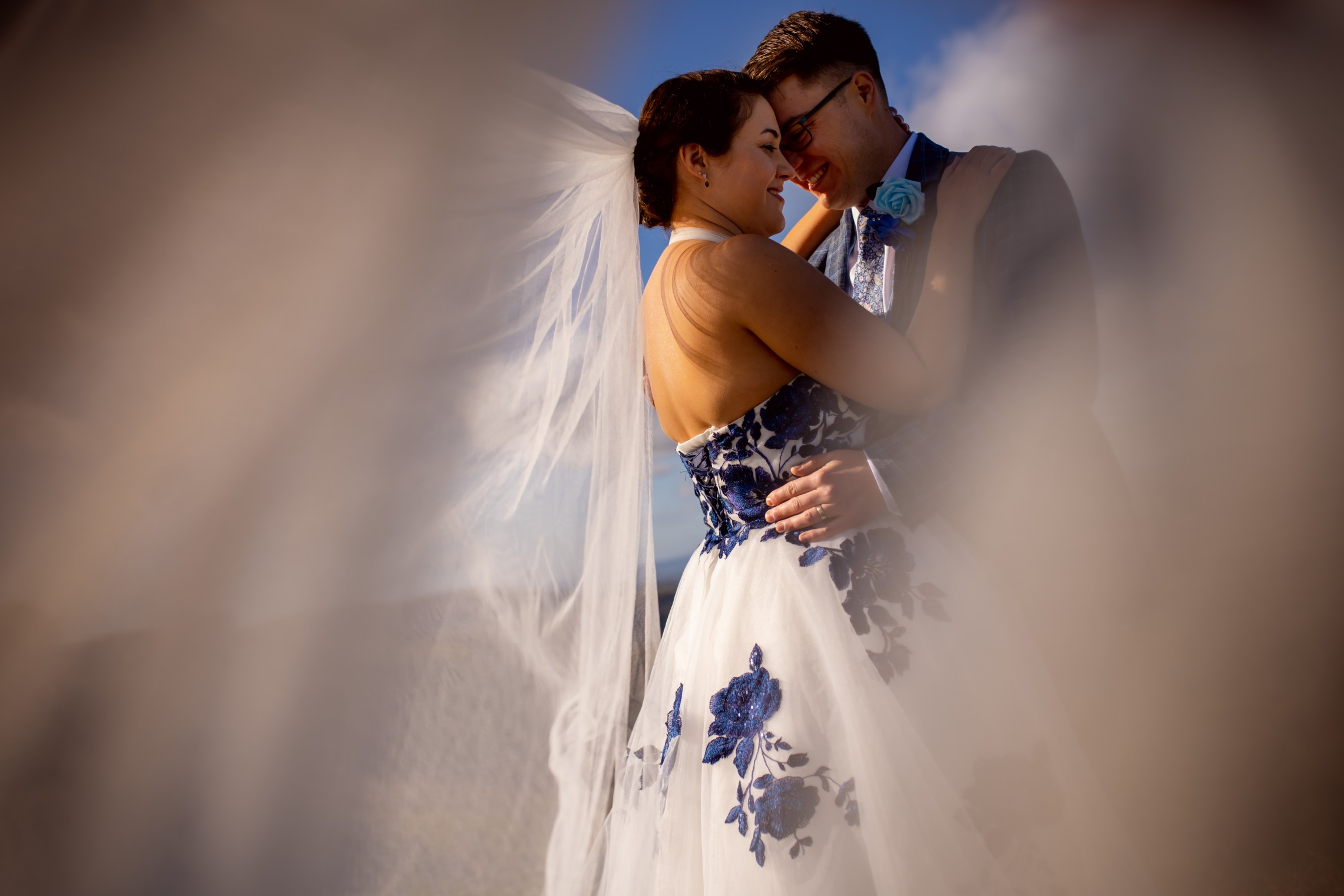 alternative wedding photography - creative wedding photography - artistic wedding photo shoot