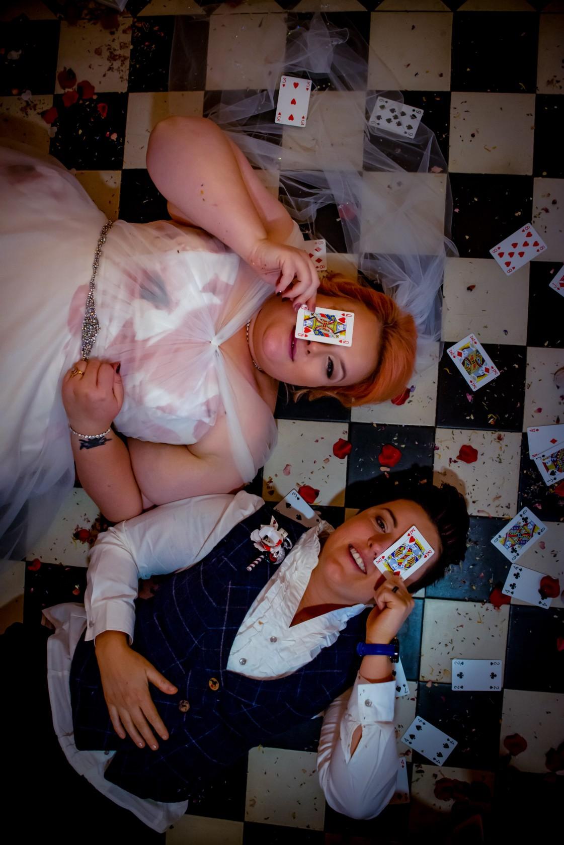 alice in wonderland wedding - wonderland wedding - real wedding inspiration - DIY wedding - romantic wedding - same sex wedding - unconventional wedding