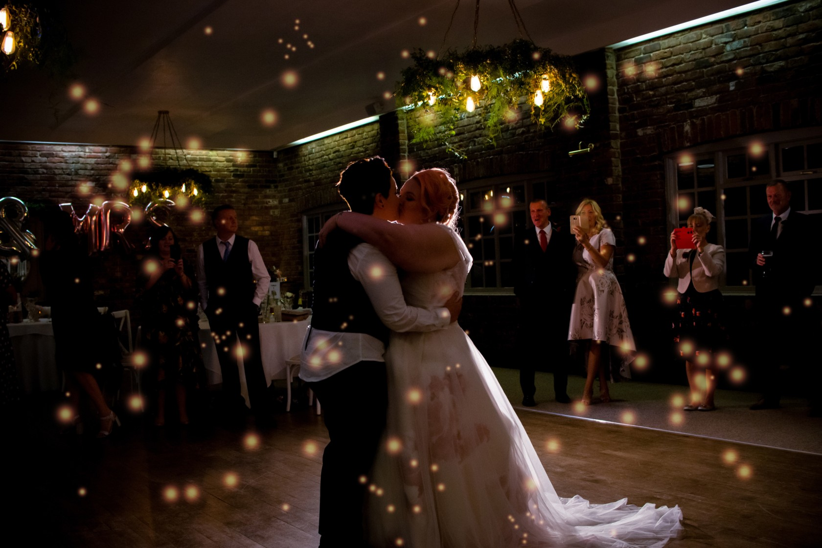 first dance photo - wonderland wedding - real wedding inspiration - DIY wedding - romantic wedding - same sex wedding - lgbtq wedding - unconventional wedding