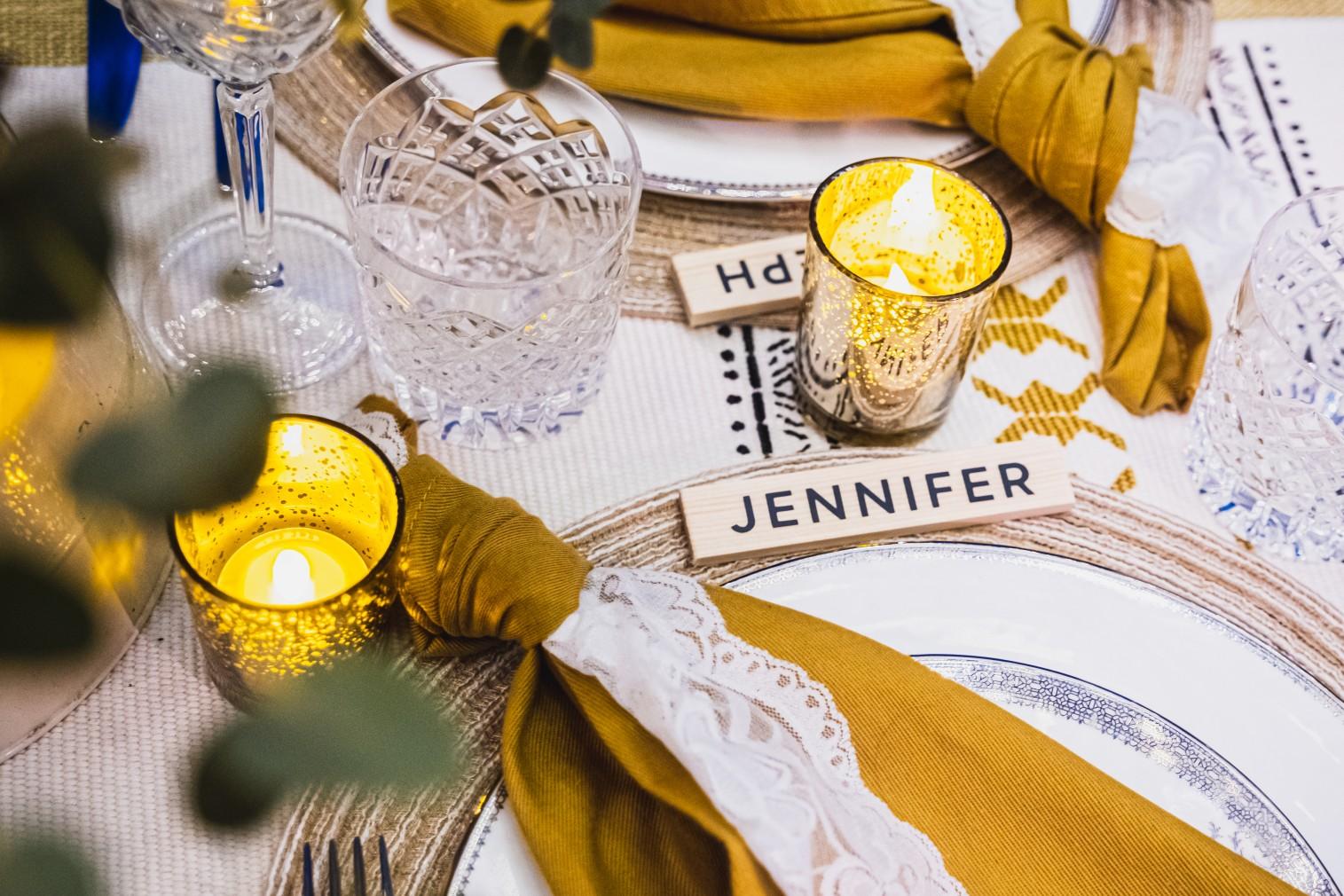 wedding wooden place names - boho wedding table - rustic wedding stationery