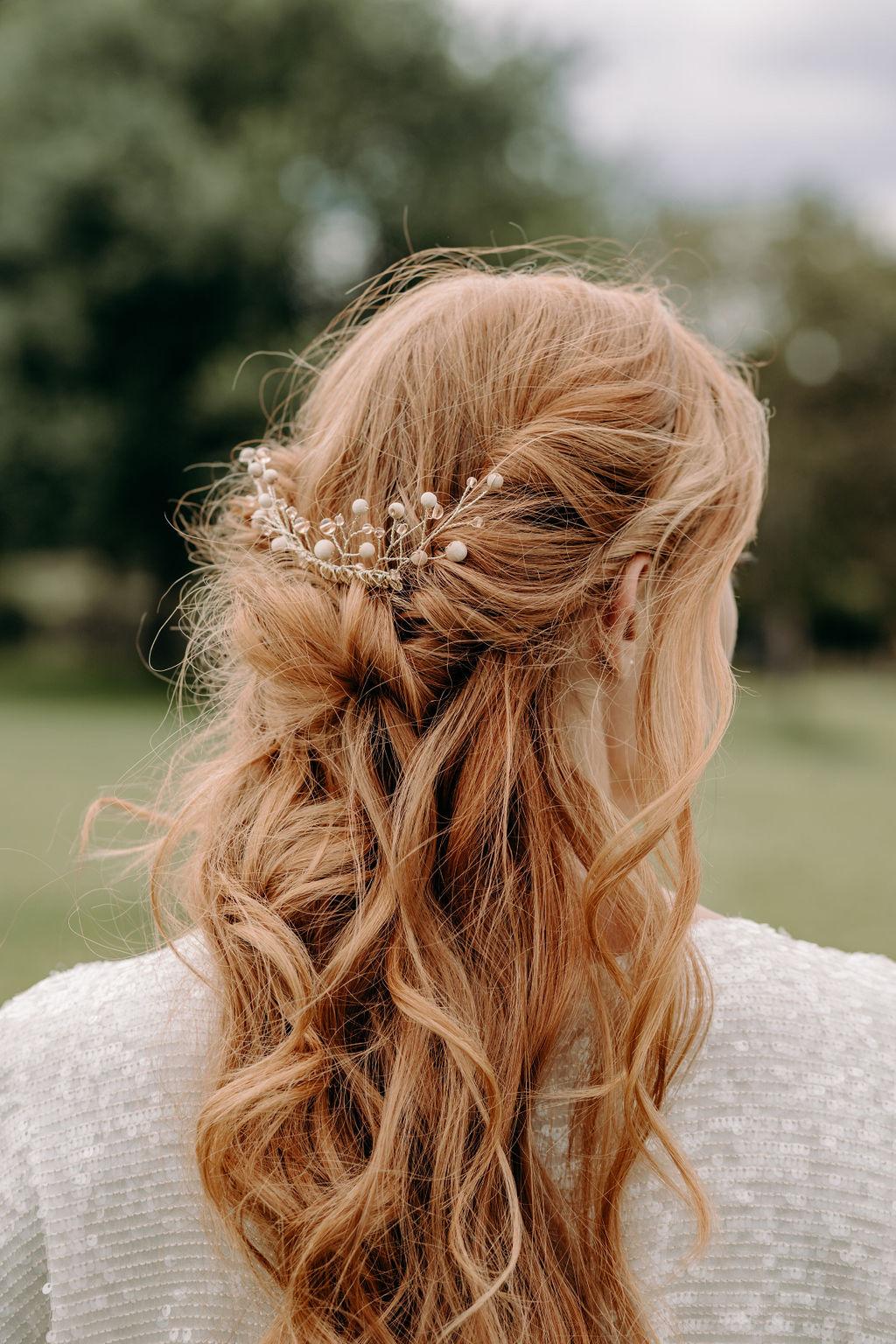 sustainable boho wedding - boho wedding accessories - bohemian bridal hair