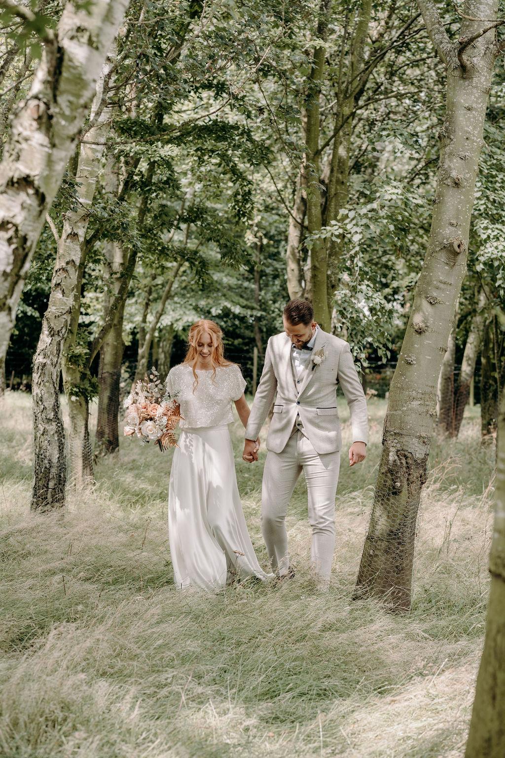 sustainable boho wedding - bohemian micro wedding - elopement photography - eco friendly wedding - unconventional wedding