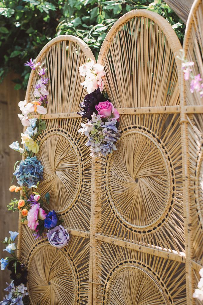 colourful wedding flowers - alternative wedding flowers - festival wedding flowers - unique wedding decor - alternative wedding - unconventional wedding - bohemian wedding