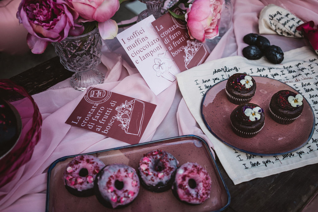 modern industrial wedding - alternative wedding - unconventional wedding - edgy wedding - modern wedding stationery - unique wedding favours - mini wedding doughnuts