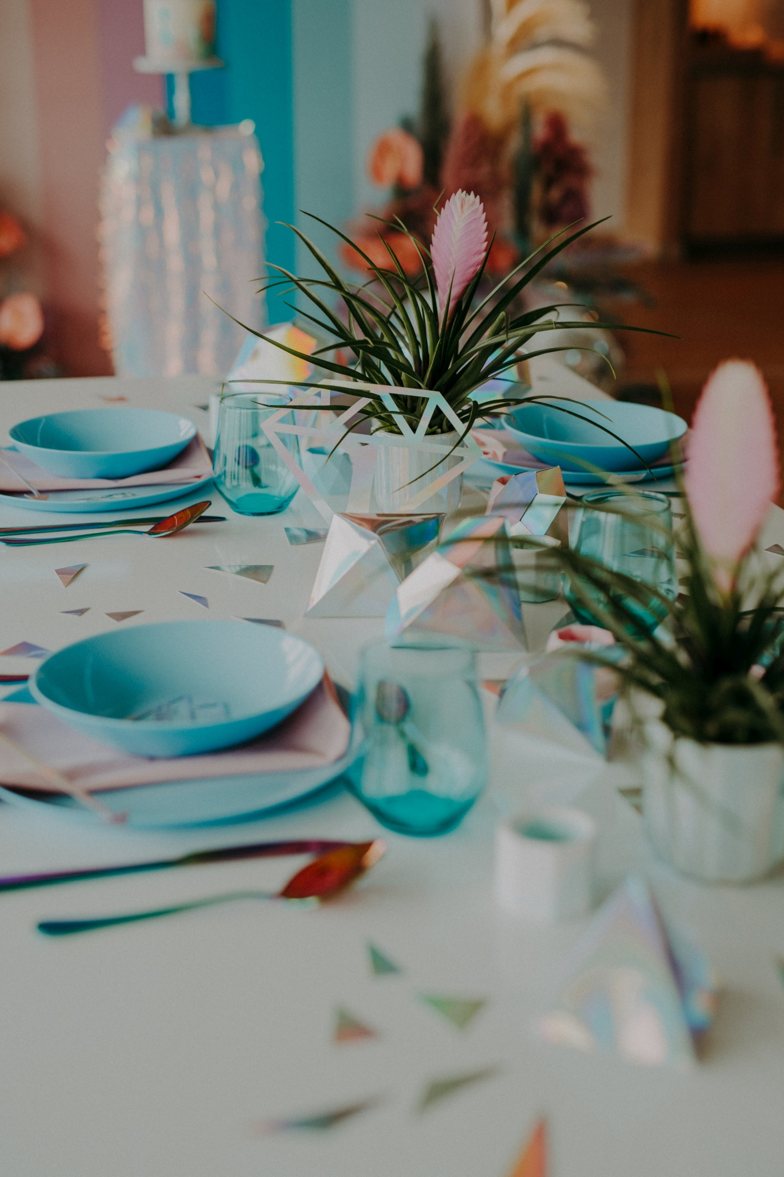colourful pastel wedding - unconventional wedding - alternative wedding - unique wedding table - pastel wedding table decor - unique wedding styling