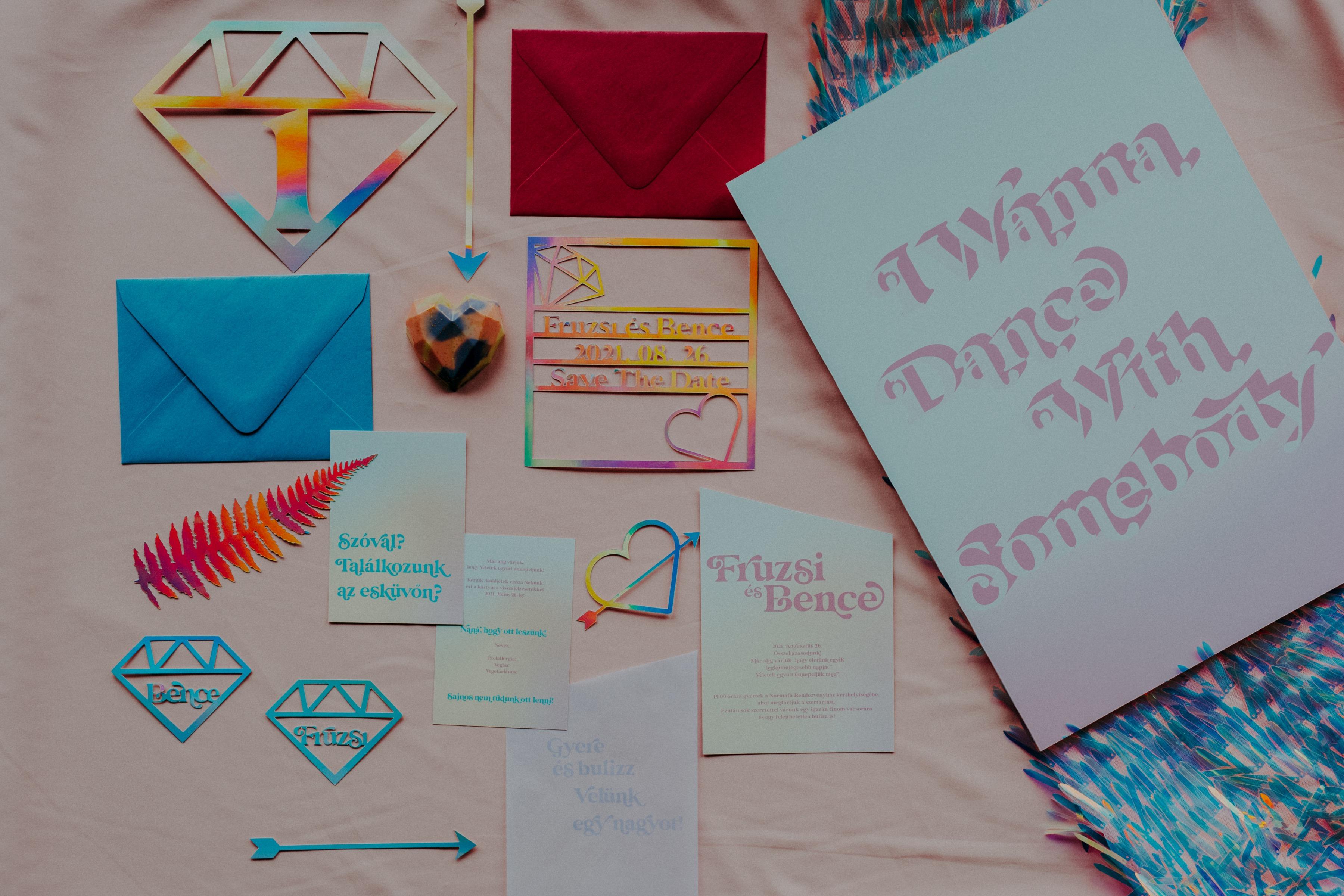 colourful pastel wedding - unconventional wedding - alternative wedding - unique wedding stationery - pastel wedding stationery - unique wedding invitations
