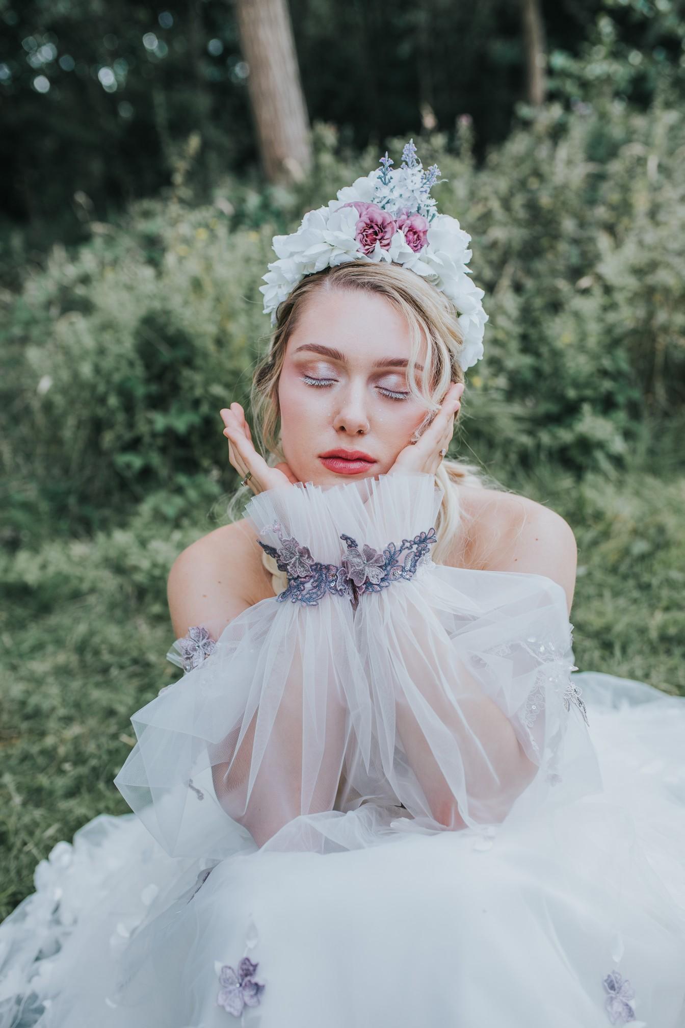 fairy wedding - whimsical wedding - magical wedding - elegant wedding dress - magical bridal look- ethereal bride