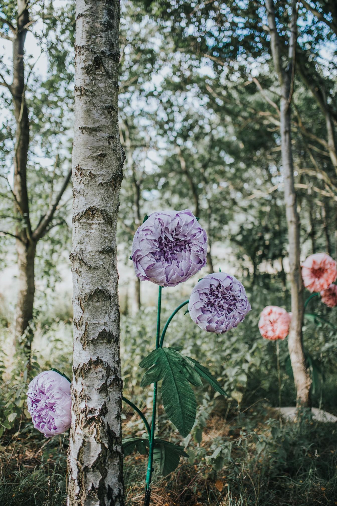 fairy wedding - whimsical wedding - magical wedding - elegant wedding dress - wedding paper flowers - outdoor wedding decor