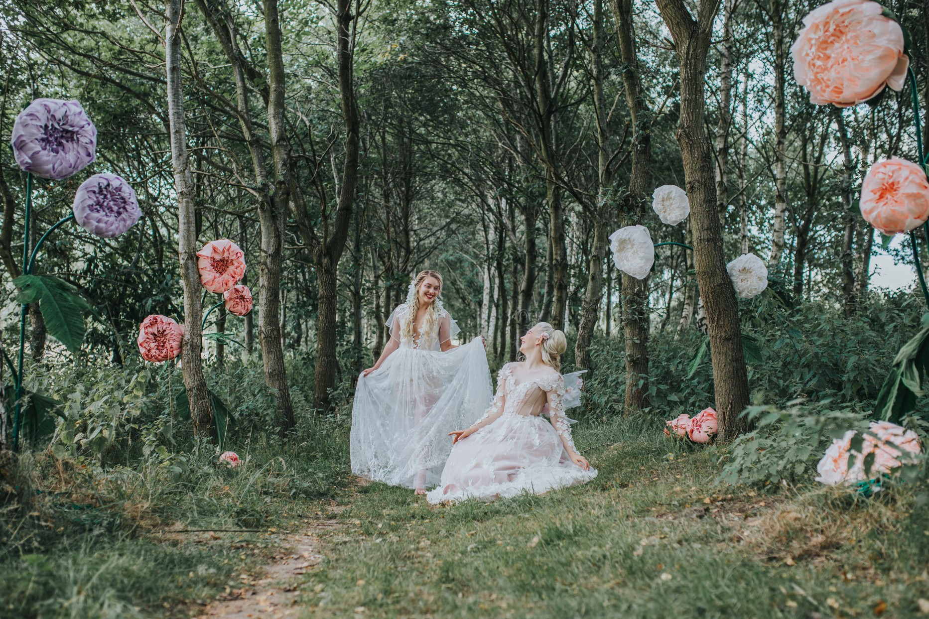 fairy wedding - whimsical wedding - magical wedding - elegant wedding dress - woodland wedding - woodland wedding decor -