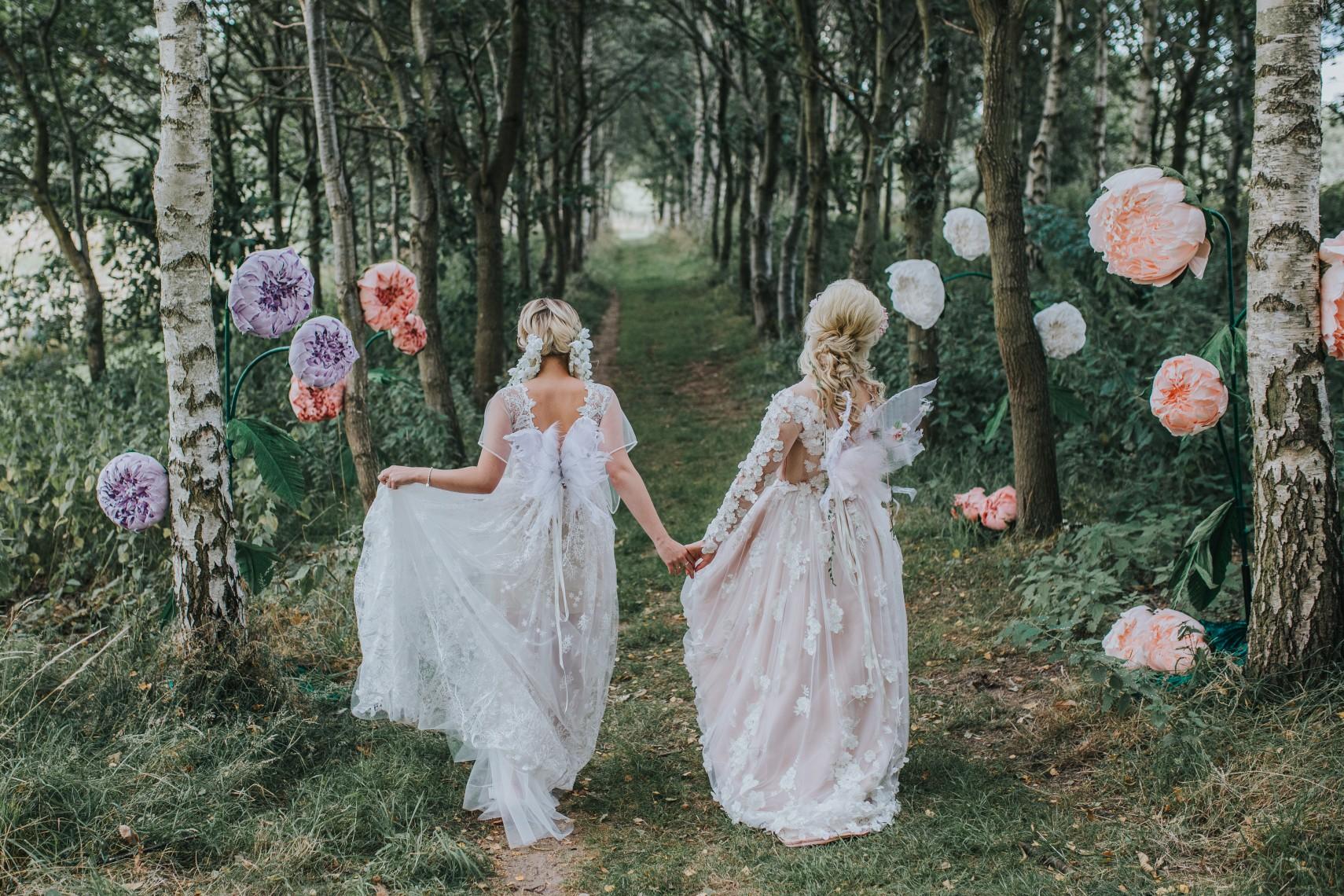 fairy wedding - whimsical wedding - magical wedding - elegant wedding dress - woodland wedding decor - forest wedding - wedding paper flowers