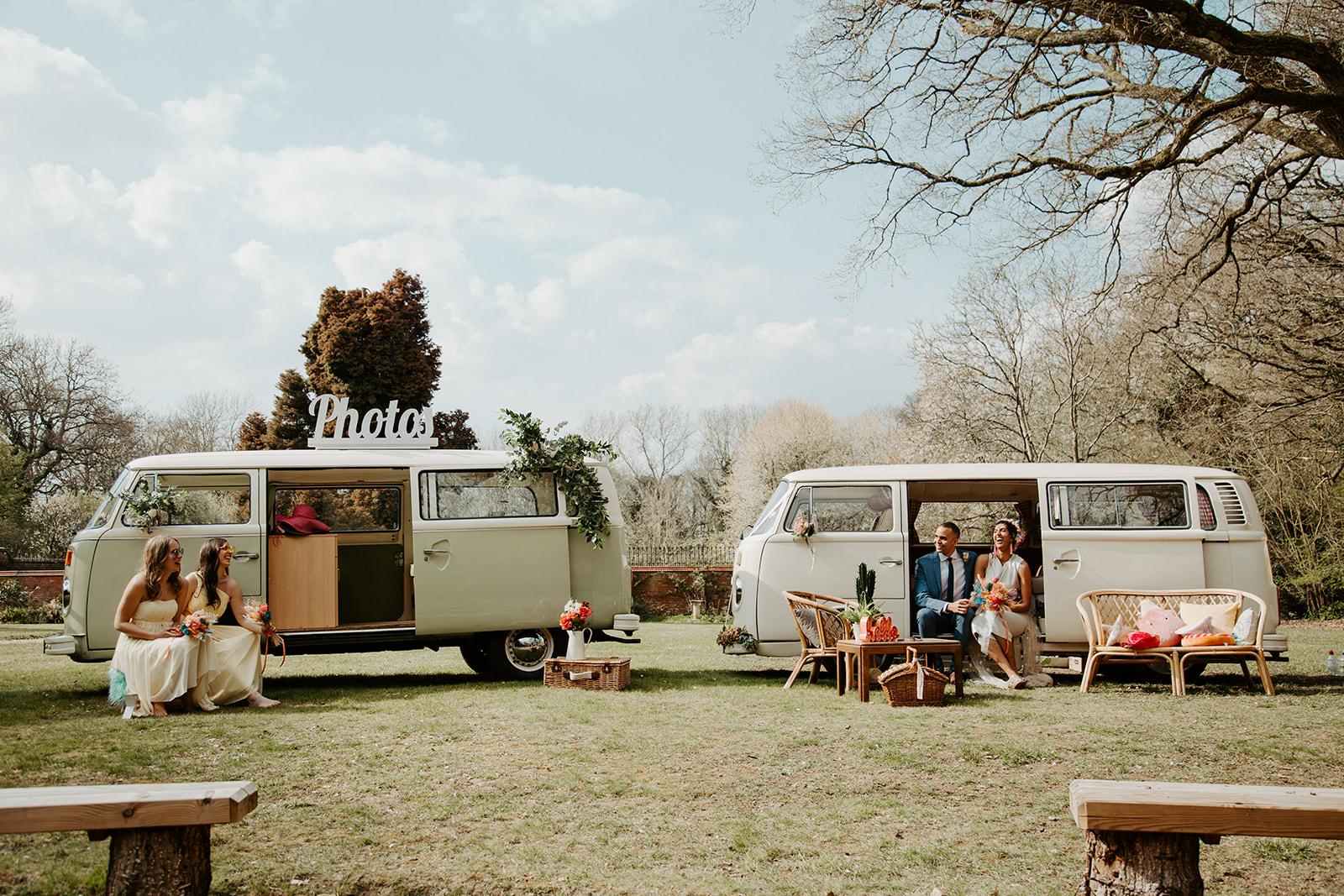drive in wedding - camper van wedding - covid wedding - socially distanced wedding - small wedding ideas