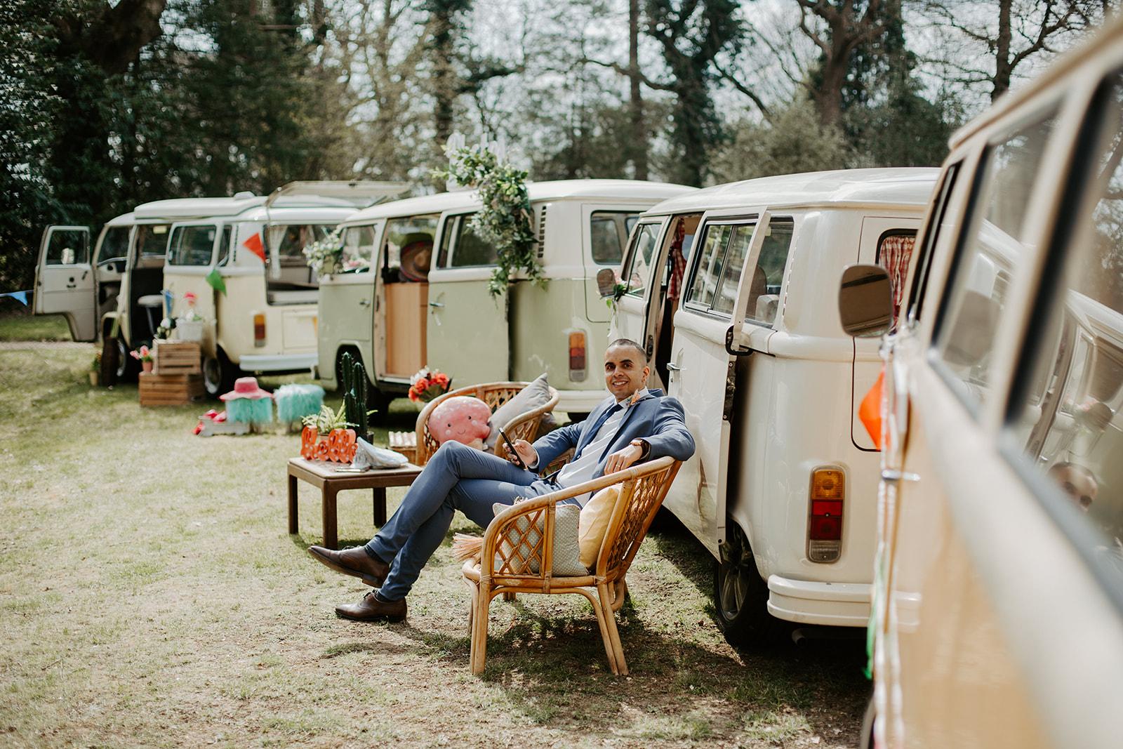 drive in wedding - camper van wedding - festival wedding ideas - unique micro wedding ideas
