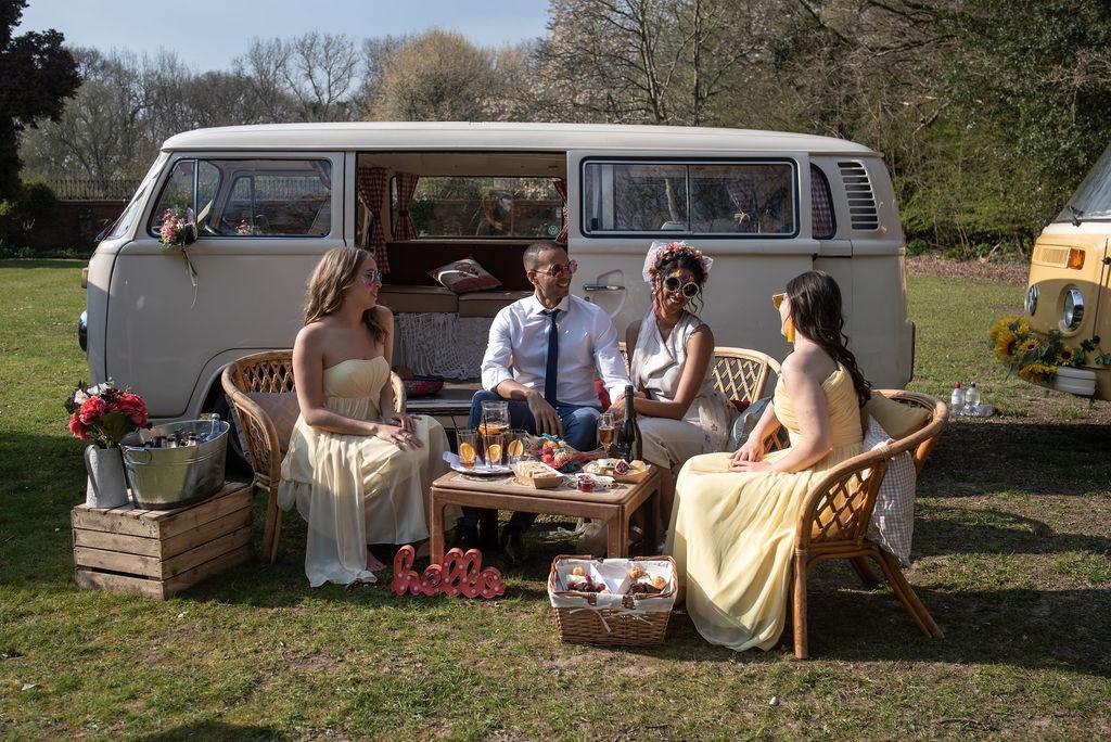drive in wedding - camper van wedding - wedding picnic - micro wedding ideas