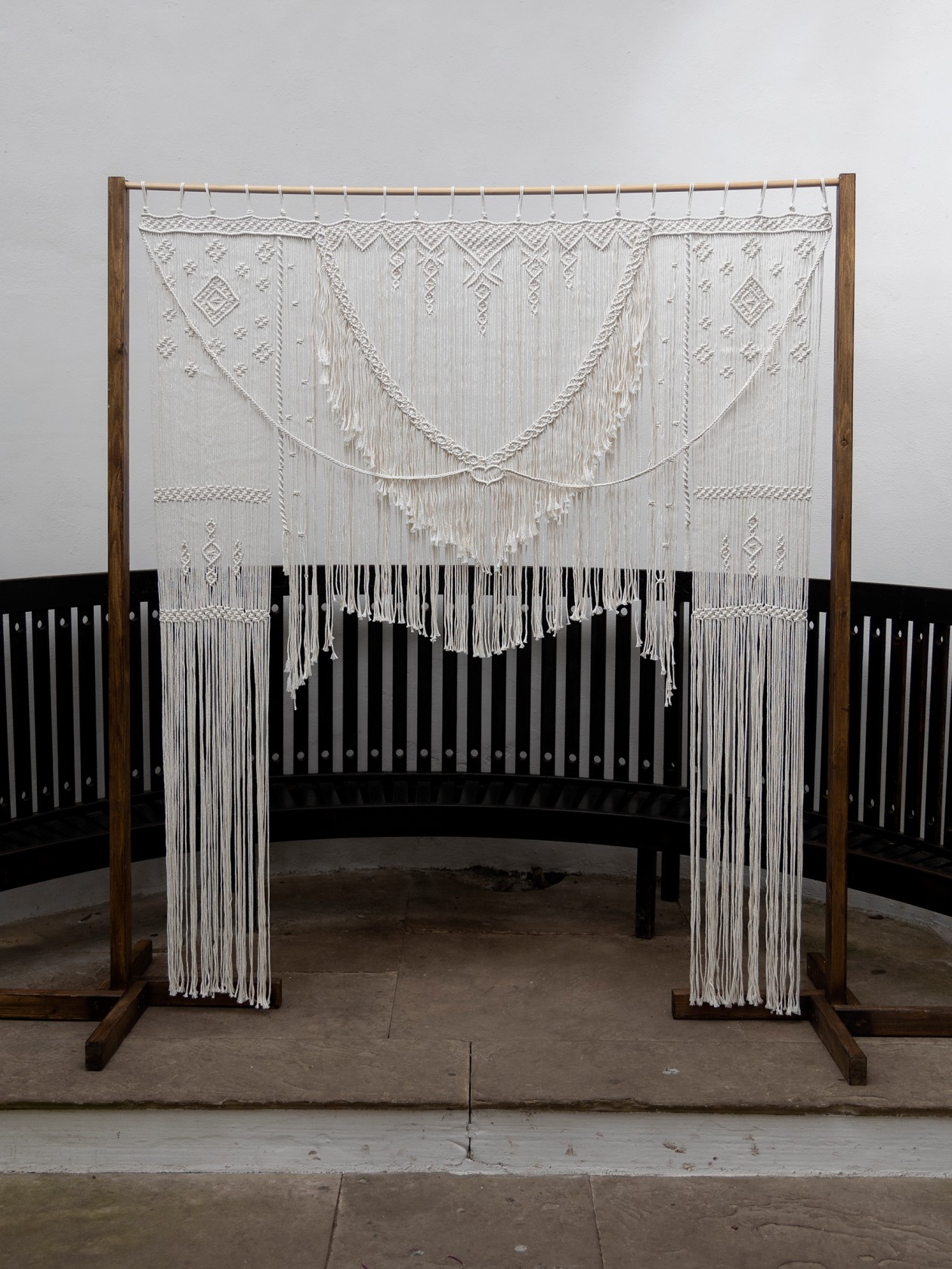 wedding macrame backdrop - boho wedding decor - bohemian wedding decoration