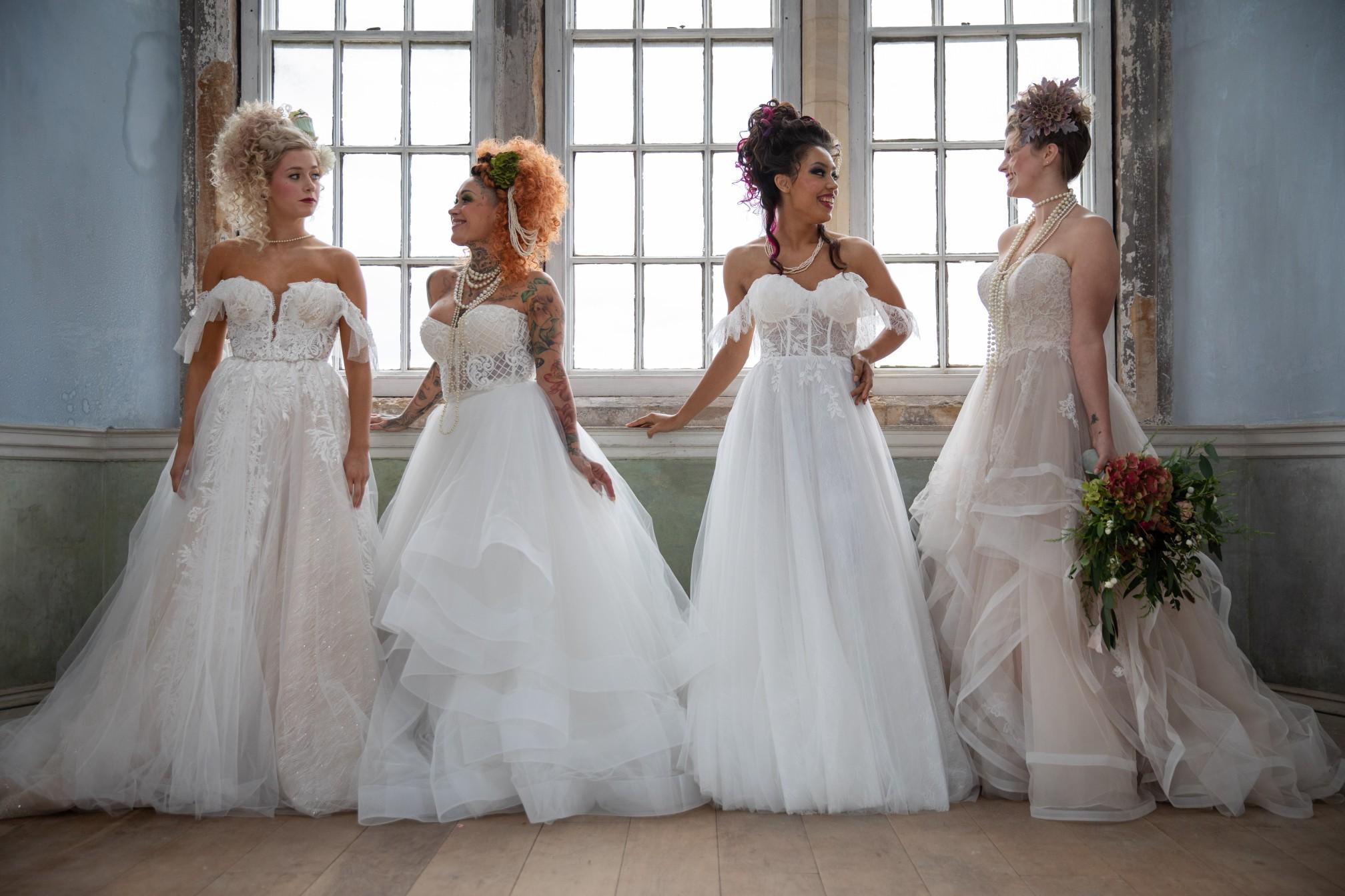 unique pastel wedding - marie antionette wedding - unique bridal look - unique bridal style - themed wedding - vintage wedding dresses