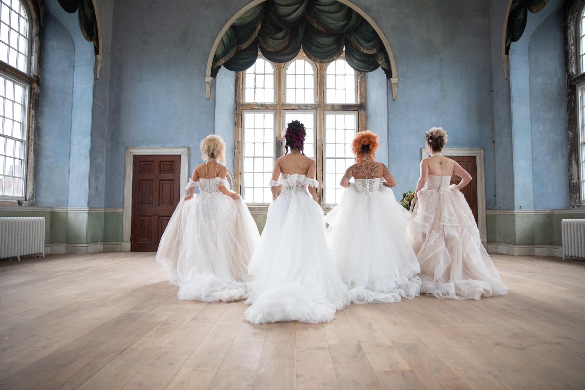 unique pastel wedding - marie antionette wedding - unique bridal look - unique bridal style - themed wedding - historic wedding venue - unique bridal wear