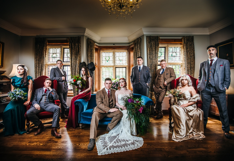 peaky blinders wedding - vintage wedding - 1920s wedding - themed wedding inspiration - unconventional wedding