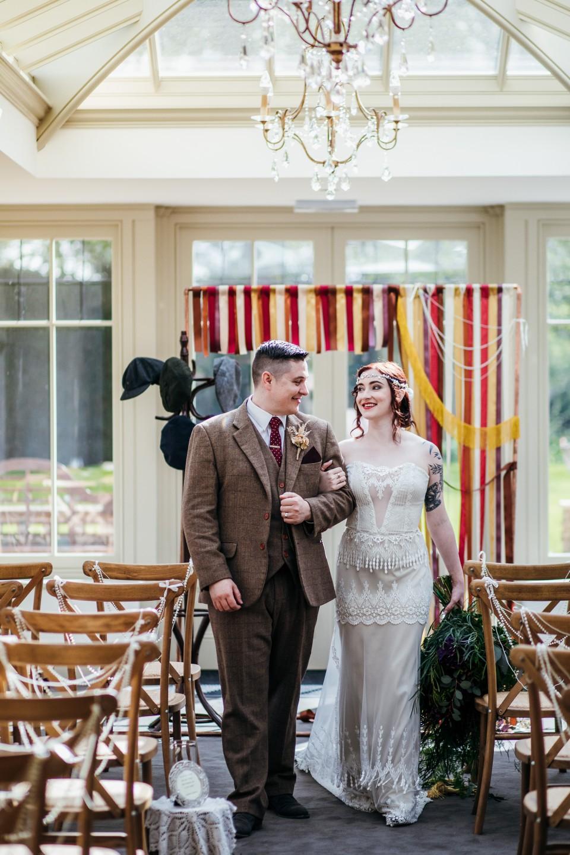 peaky blinders wedding - vintage wedding - vintage wedding dress - 1920s wedding - themed wedding