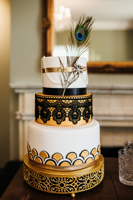 peaky blinders wedding - vintage wedding - 1920s wedding - themed wedding inspiration - art deco wedding cake - unique wedding cake - vintage wedding cake - gold wedding cake - alternative wedding cake