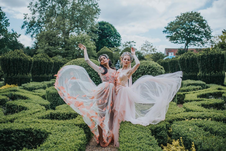 bridgerton wedding - regency wedding - unique bridal wear - peach wedding dress - elegant wedding dress