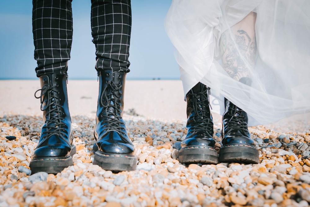 Road trip wedding inspiration - wedding dr martens
