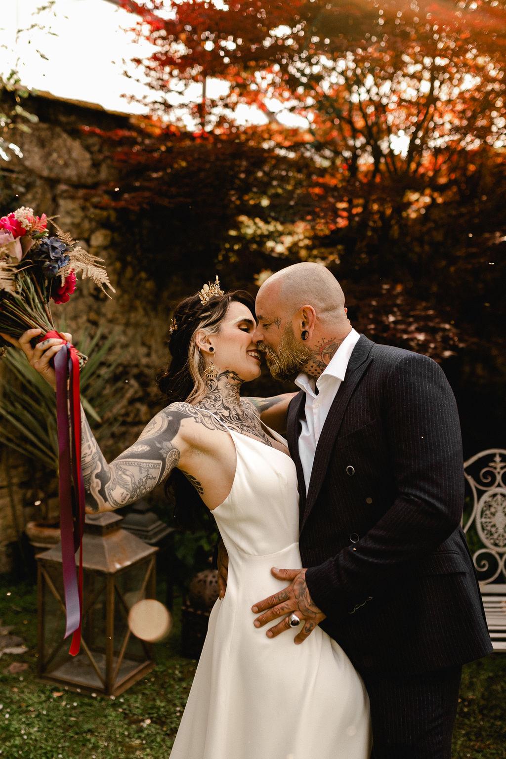 autumn wedding - alternative wedding inspiration - unconventional wedding