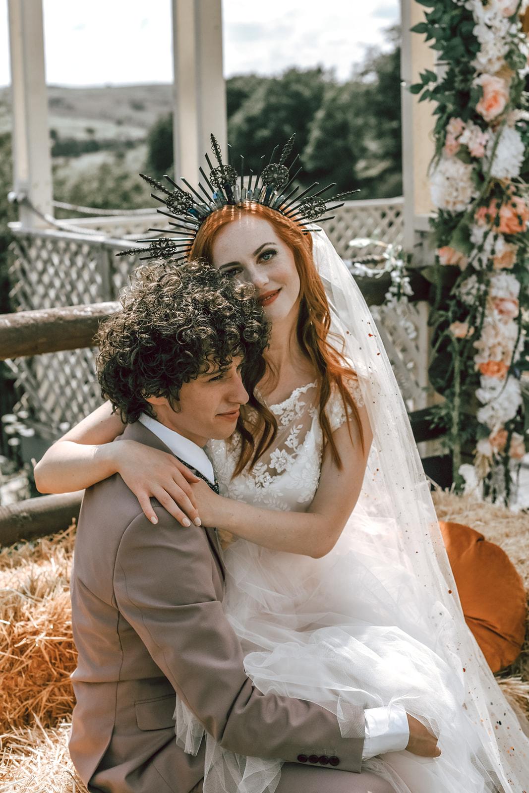 rustic festival wedding - unique wedding wear - boho outdoor wedding - unique bridal headpiece - wedding crown