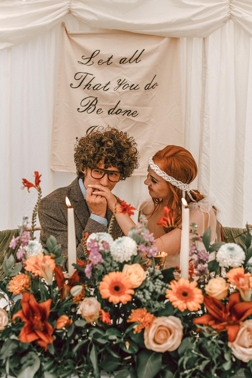 rustic festival wedding - autumn wedding - bohemian wedding inspiration - relaxed wedding - tipi wedding