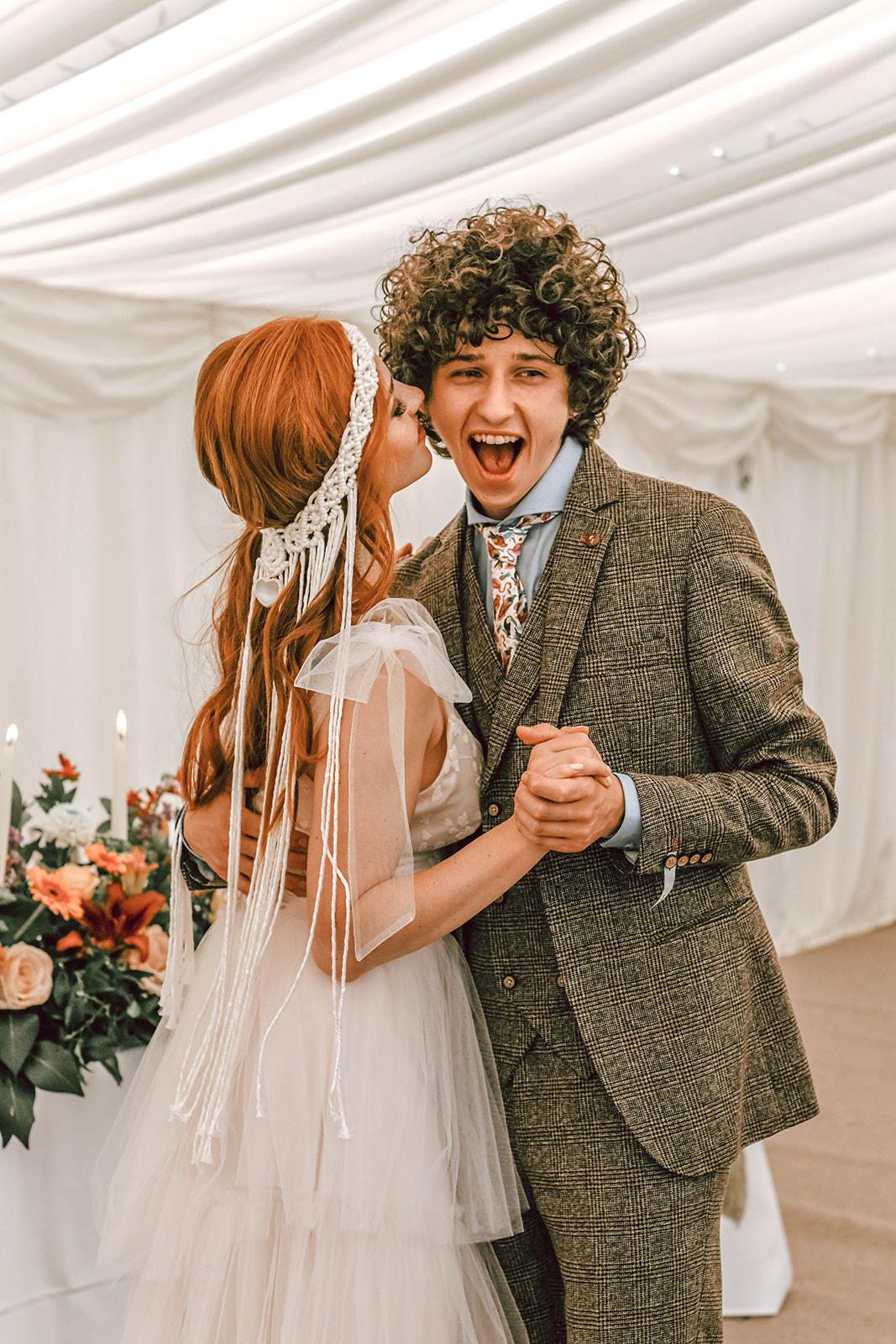 rustic festival wedding - unique wedding wear - tipi wedding - unconventional wedding