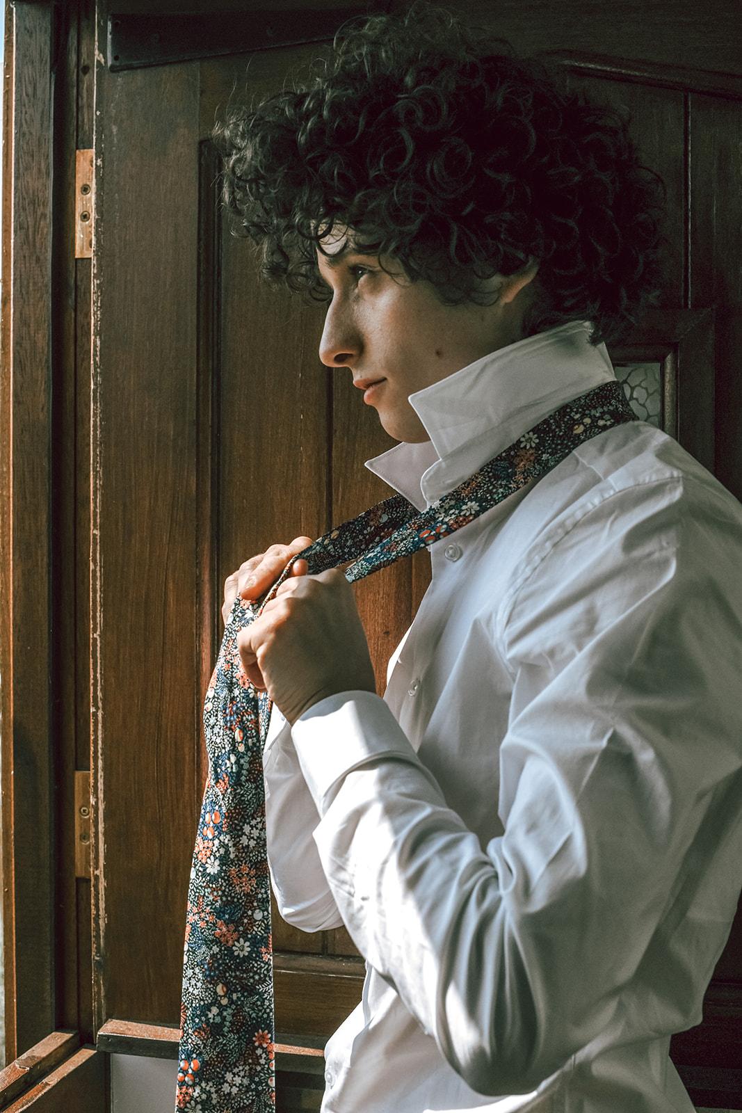 unique groomswear - mens floral tie
