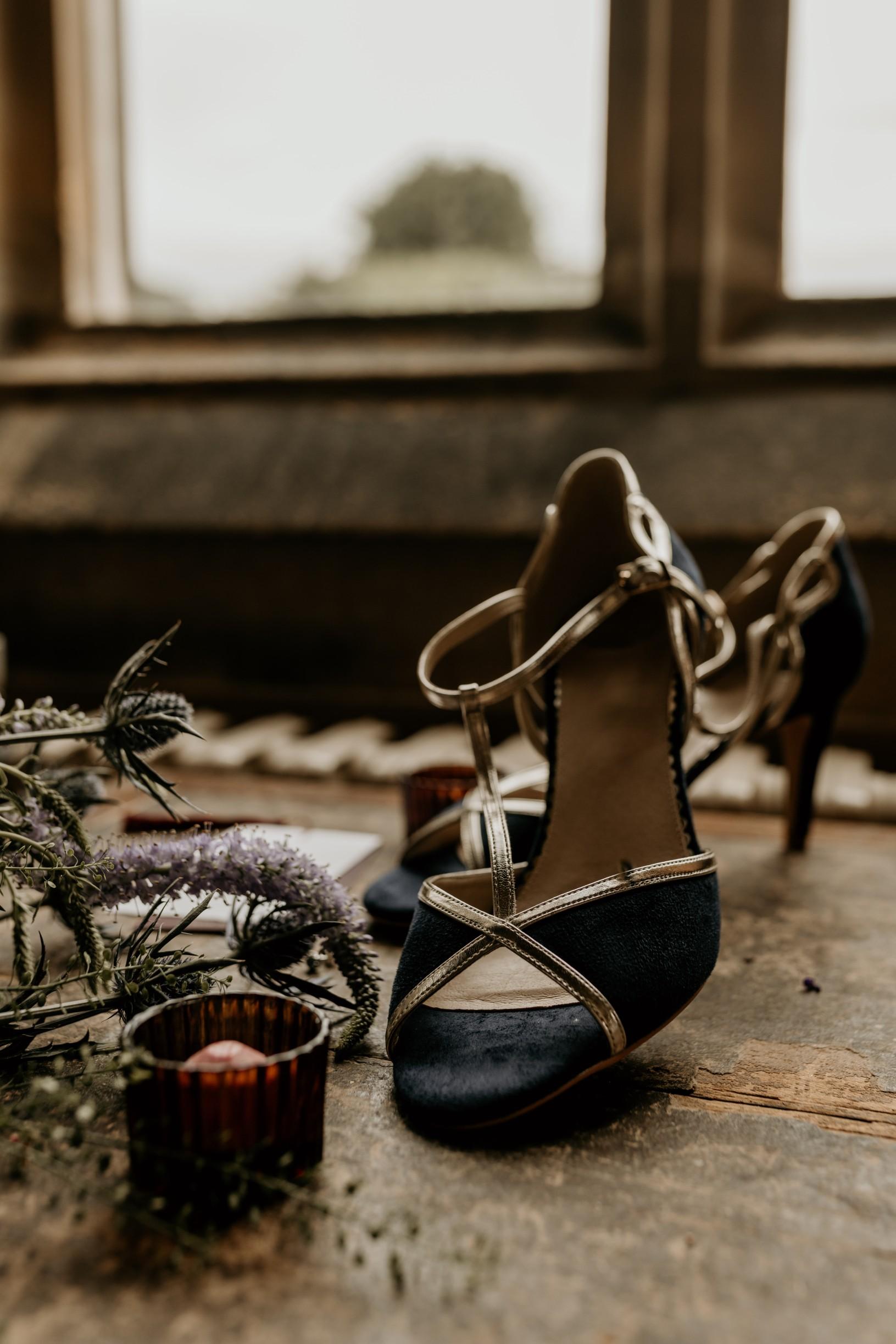 blue wedding shoes - blue bridal shoes - unique wedding shoes